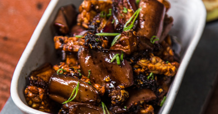 Tempeh and Terung (Eggplant) in Sweet Soy Chili Sauce