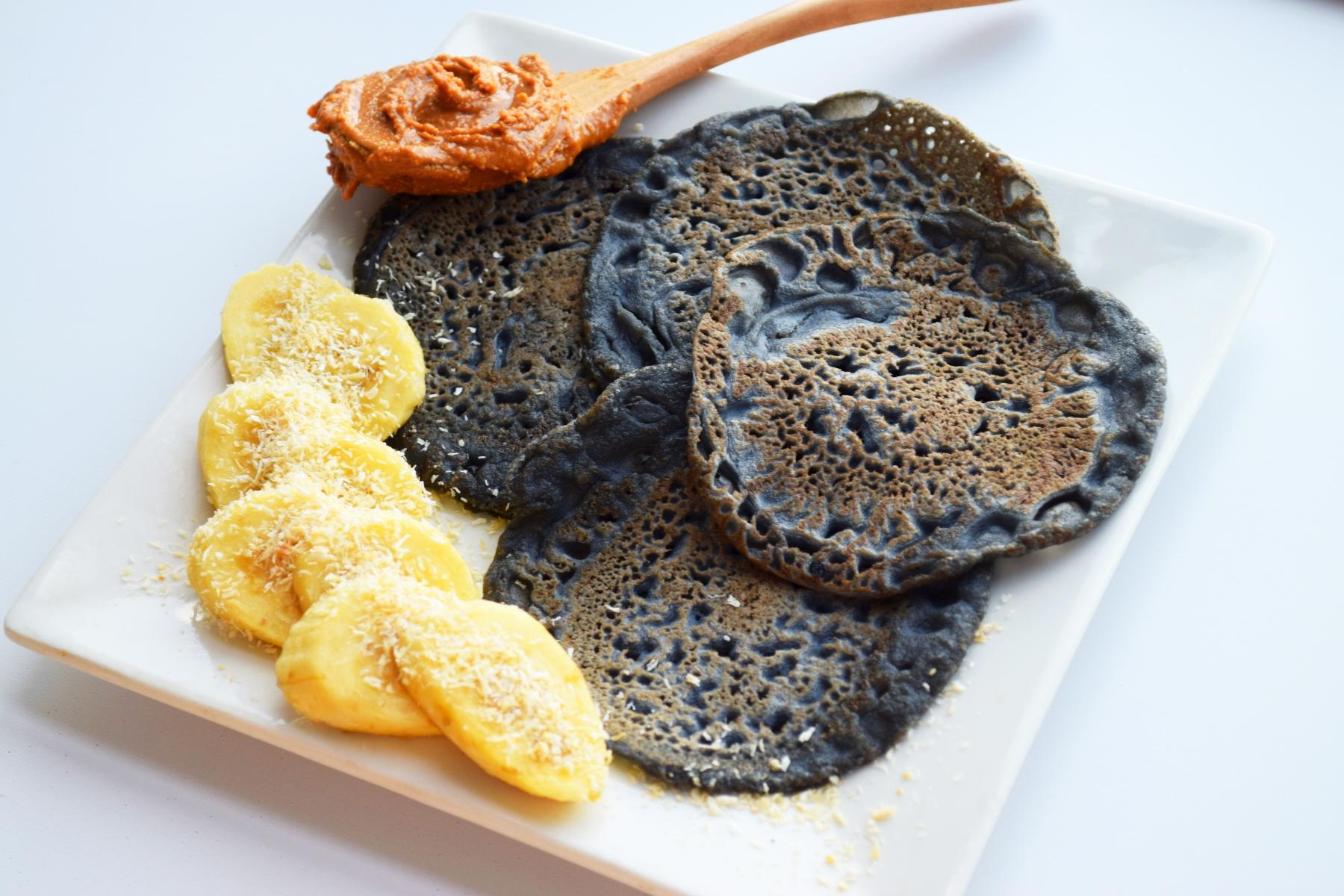 Charcoal Buckwheat Pancakes (Gluten-Free)